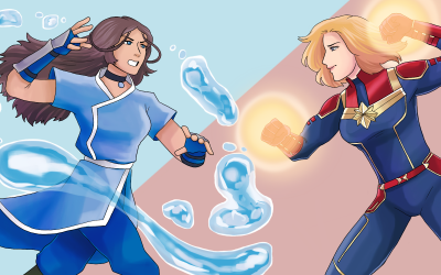 Katara vs Captain Marvel – Strong Women on TV